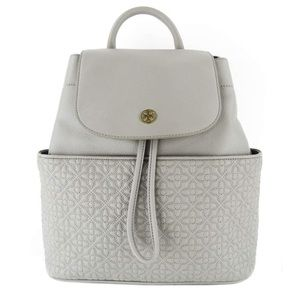 Perfect New With Tag Tory Burch Grey Backpack